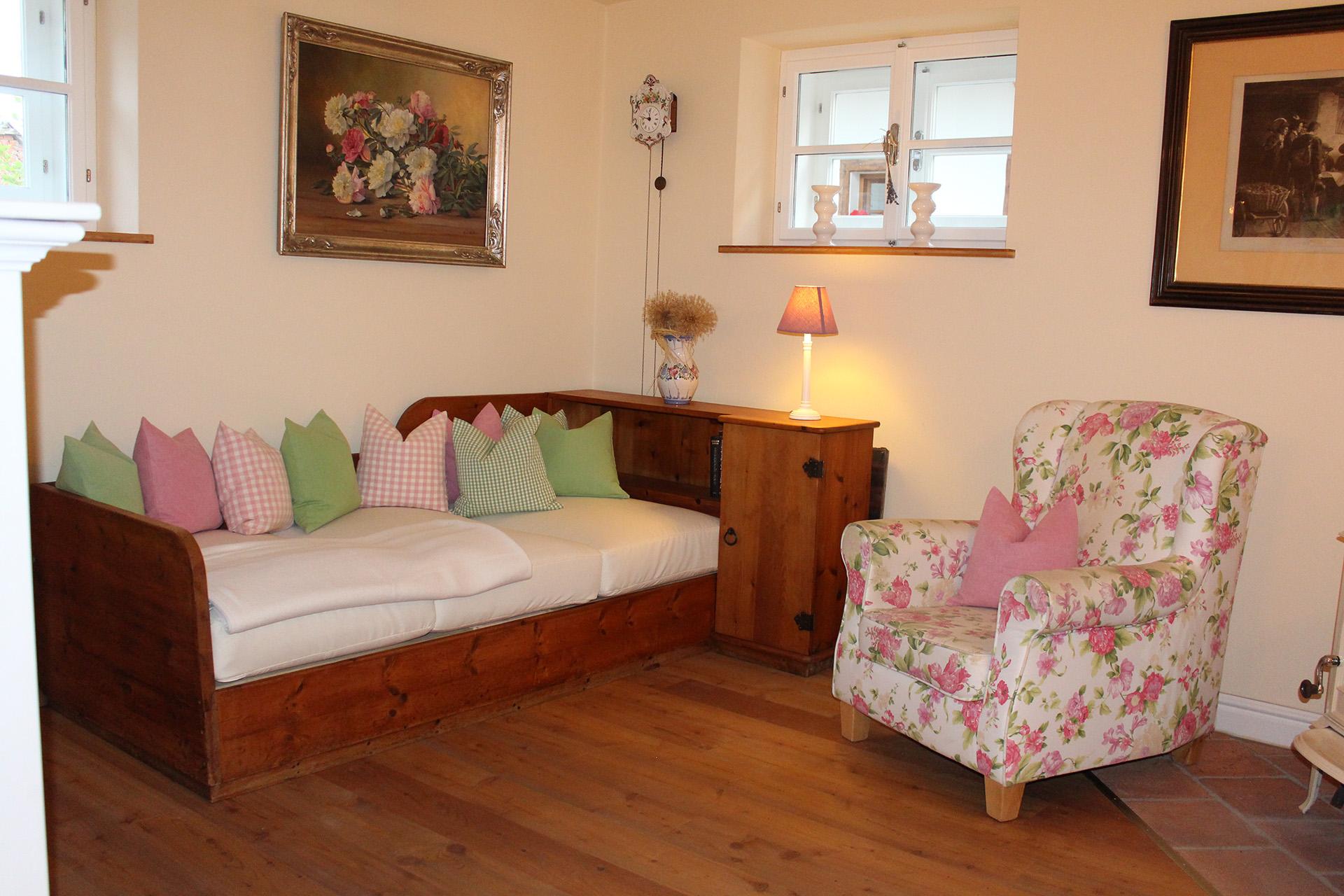 Das Wohnzimmer des Cottage