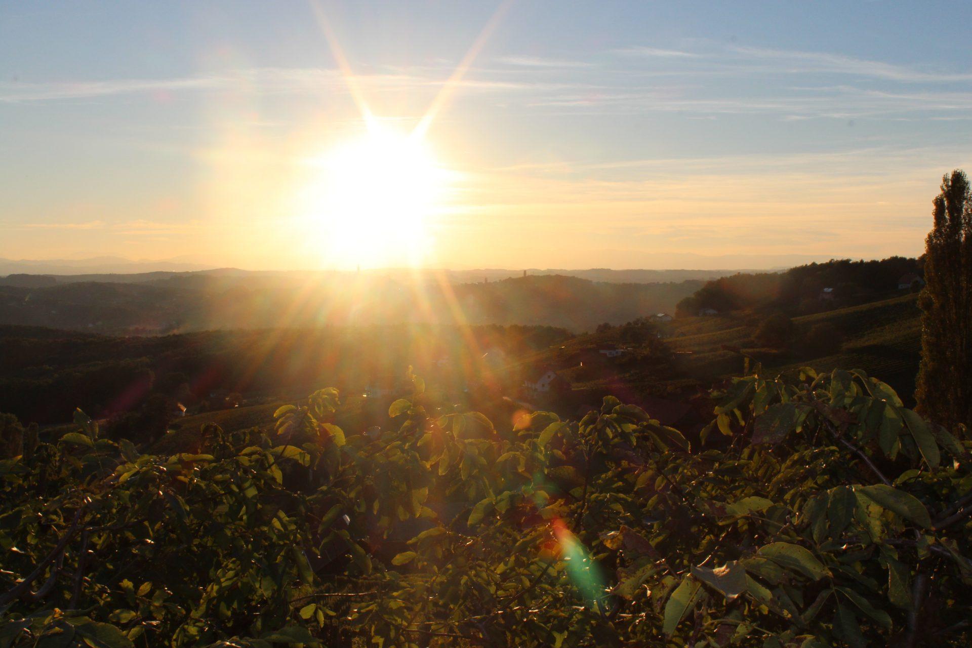 Sonnenuntergang über Straden