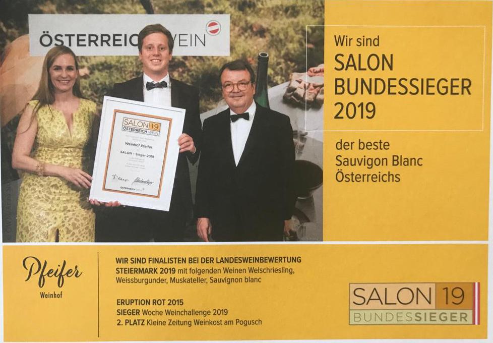 bester Sauvigon Blanc Österreichs 2019